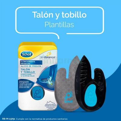 PLANTILLAS TOBILLO Y TALON SCHOLL INBALANCE TALLA M 1 PAR