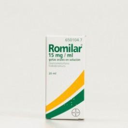 ROMILAR 15 MGML GOTAS ORALES SOLUCION 1 FRASCO 20 ML