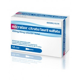 MICRALAX 45 MG450 MG EMULSION RECTAL 12 MICROENEMAS 5 ML