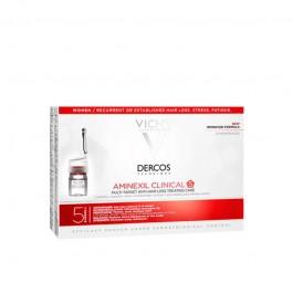 DERCOS AMINEXIL CLINICAL 5 MUJER 6 ML 21 MONODOSIS