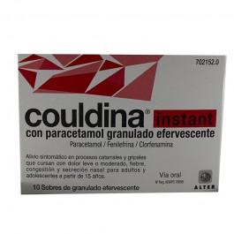 COULDINA INSTANT CON PARACETAMOL 650410 MG 10 SOBRES GRANULADO EFERVESCENTE