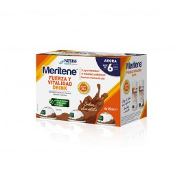 MERITENE FUERZA Y VITALIDAD DRINK PACK CHOCOLATE 6 U X 125 ML